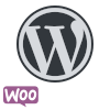 WordPress WooCommerce logo circle